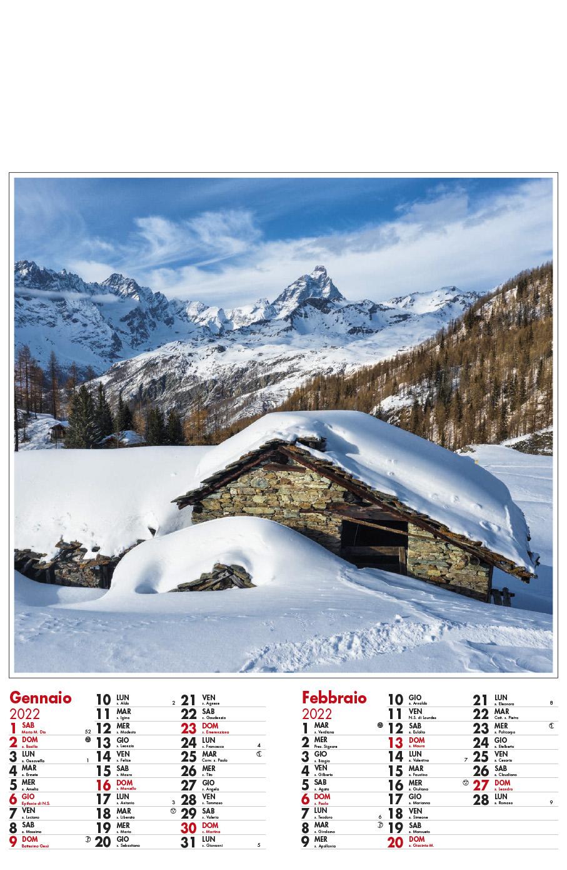 Calendario MockUp Montagna 2022