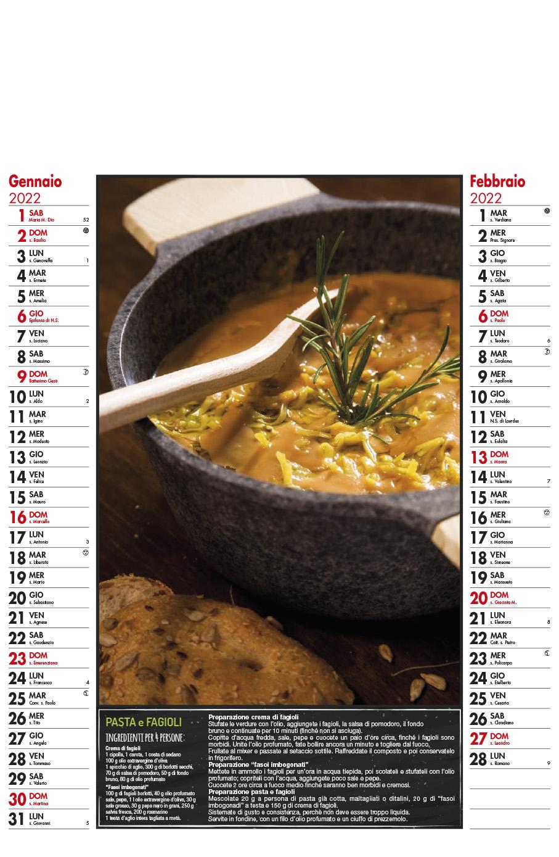 Calendario MockUp Gastronomico 2022