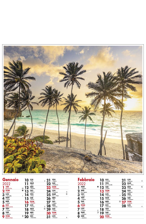 Calendario MockUp Spiaggia 2022