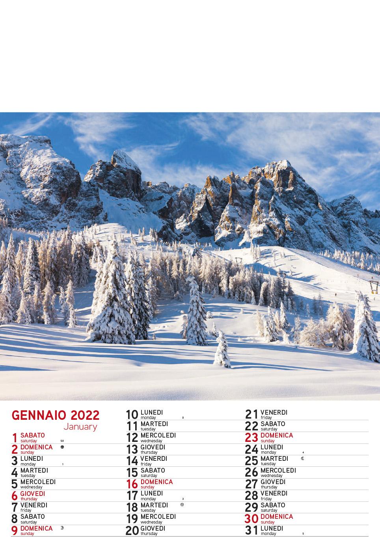 Calendario MockUp Montagna