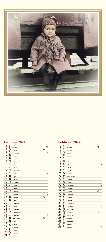 Calendario MockUp Bambina
