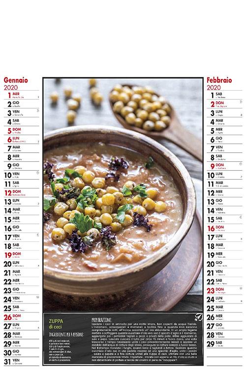 Calendario MockUp 2020 Gastronomia