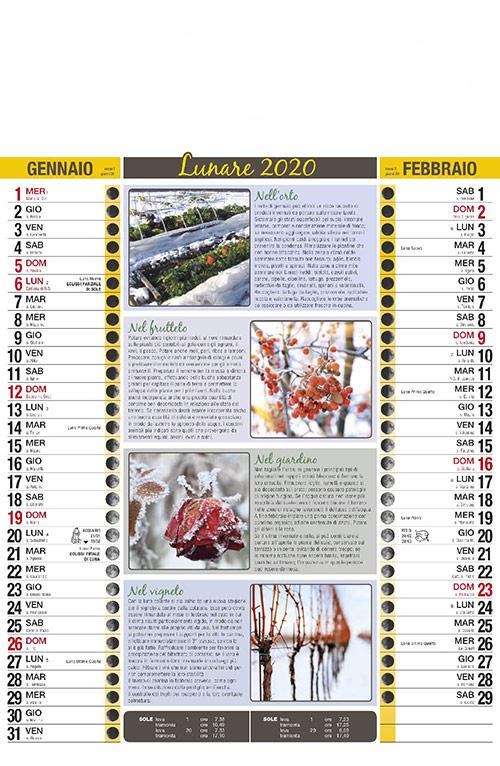 Calendario MockUp 2020 Lunare