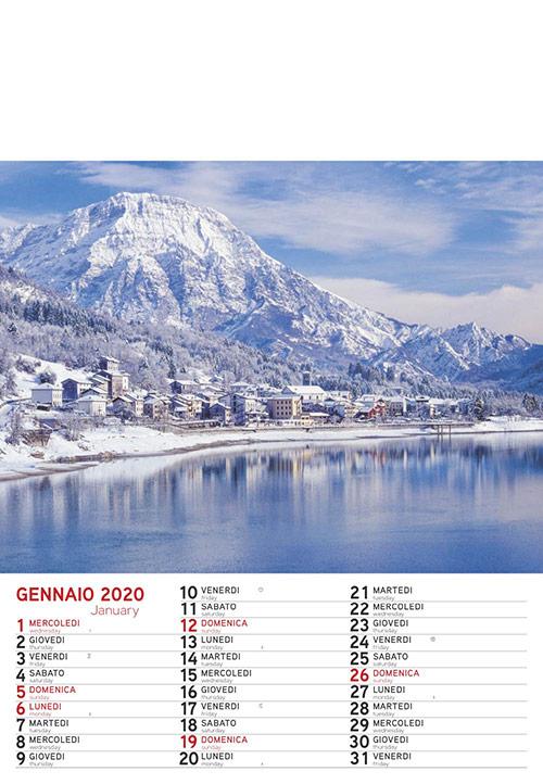 Calendario MockUp 2020 Montagna