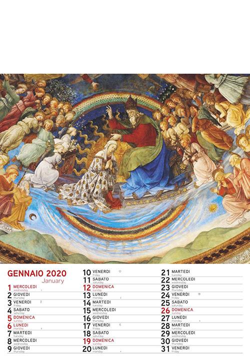 Calendario MockUp Gennaio 2020
