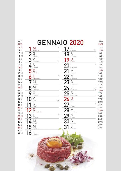 Calendario MockUp Olandese 2020