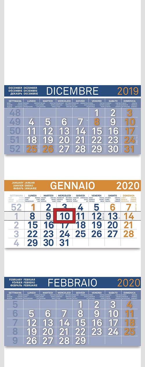 Calendario Dicembre - Febbraio 2020