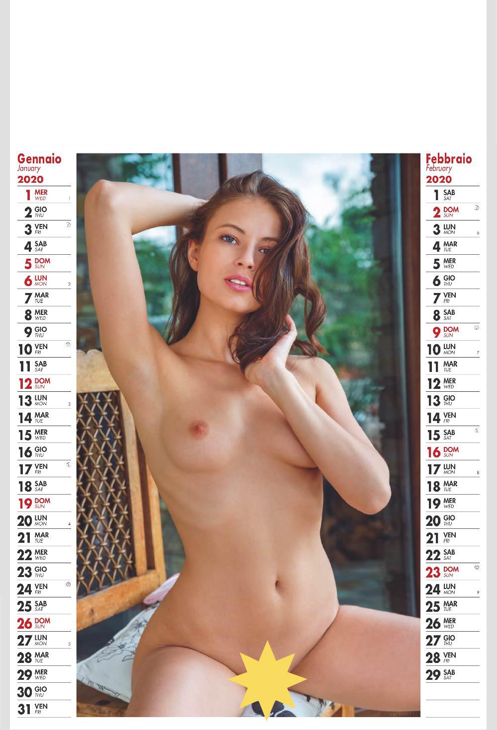 Calendario Sexy Donne Nude 2020