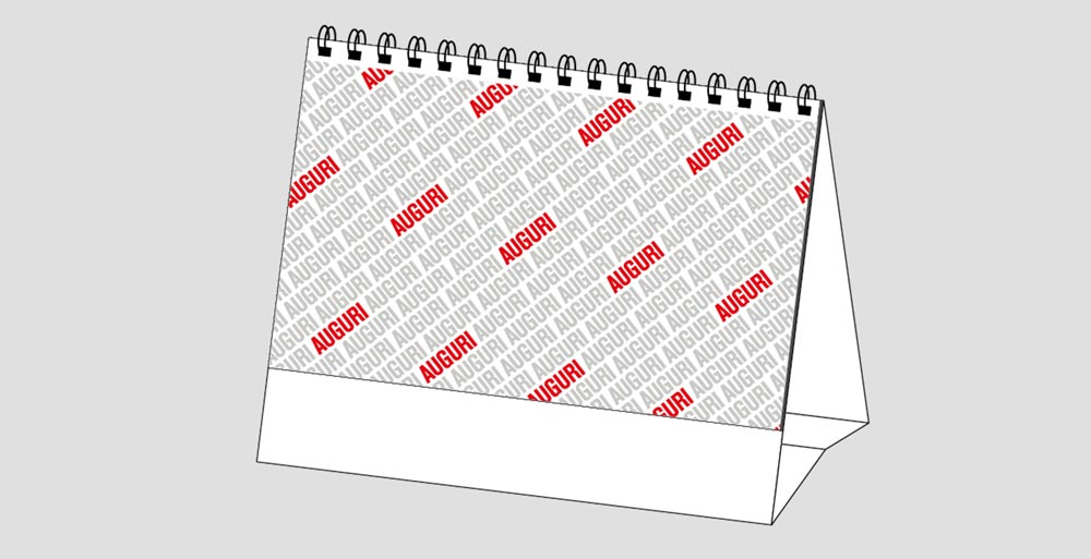 Calendario MockUp Da Tavolo Auguri
